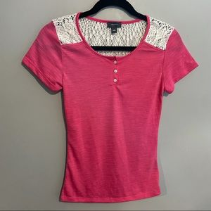 Talula shift with crochet detail size small pink